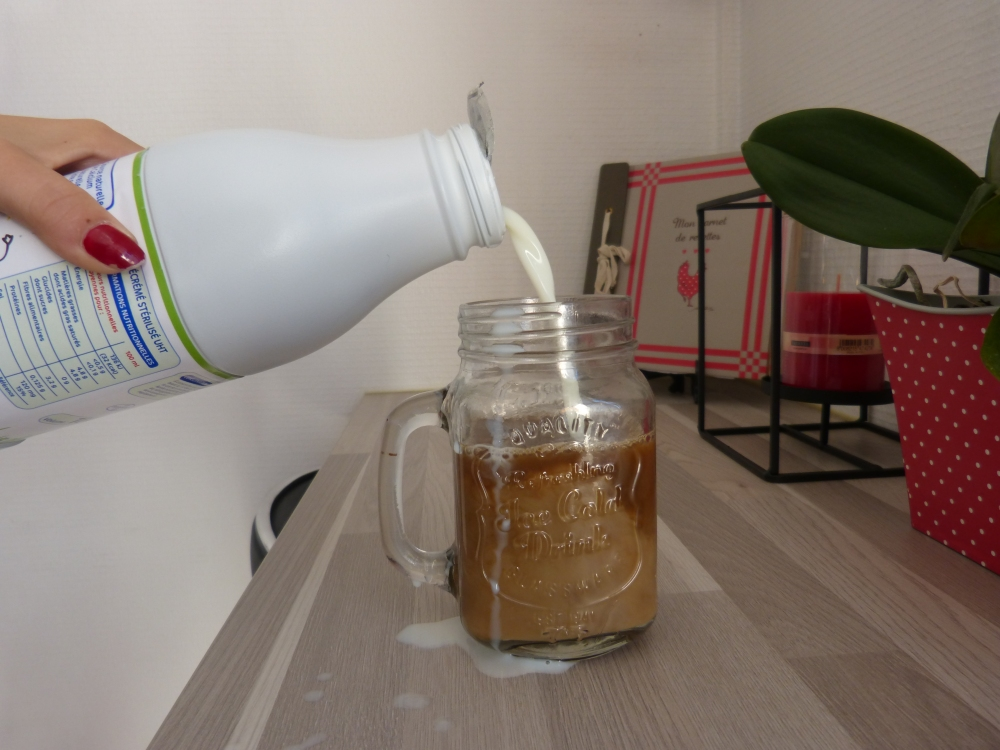 verser le lait